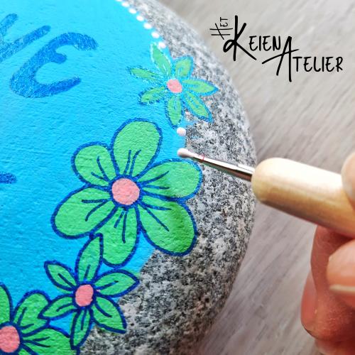 Handgeschilderde keien
